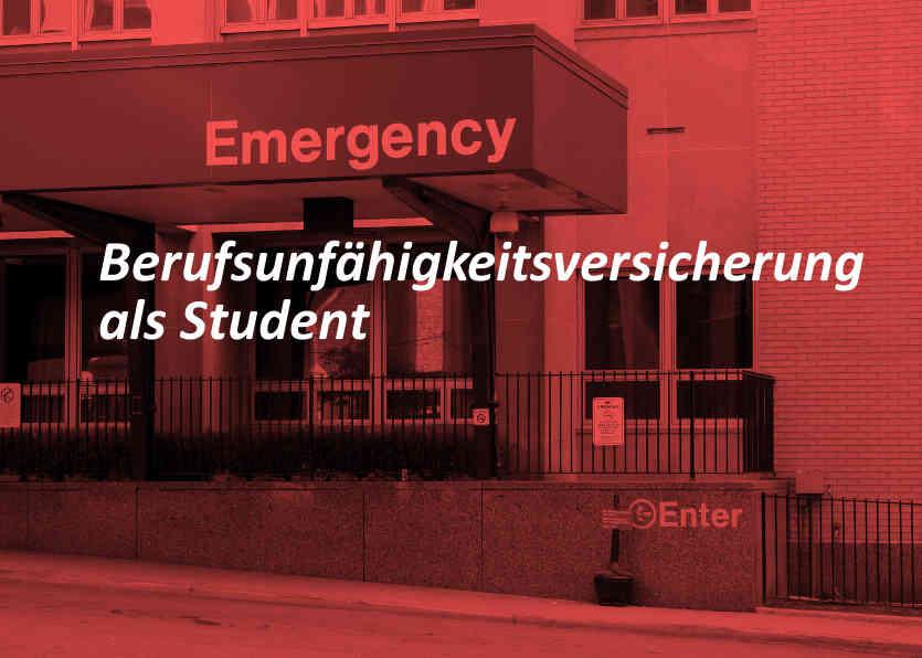 Berufsunfähigkeitsversicherung als Student