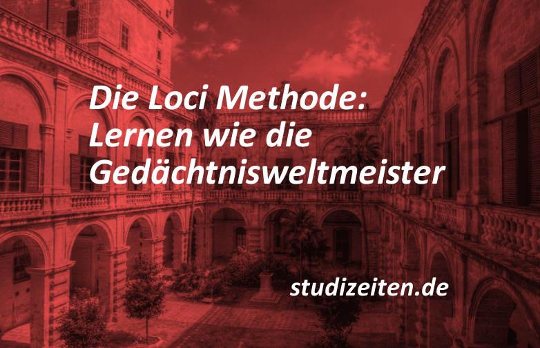 loci methode lernen und beispiele