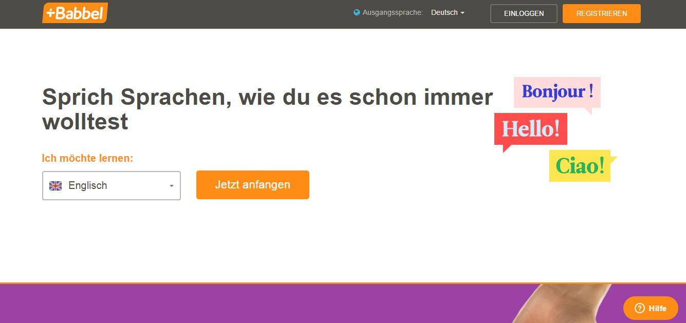 Mit wenigen Klicks den Sprachkurs starten