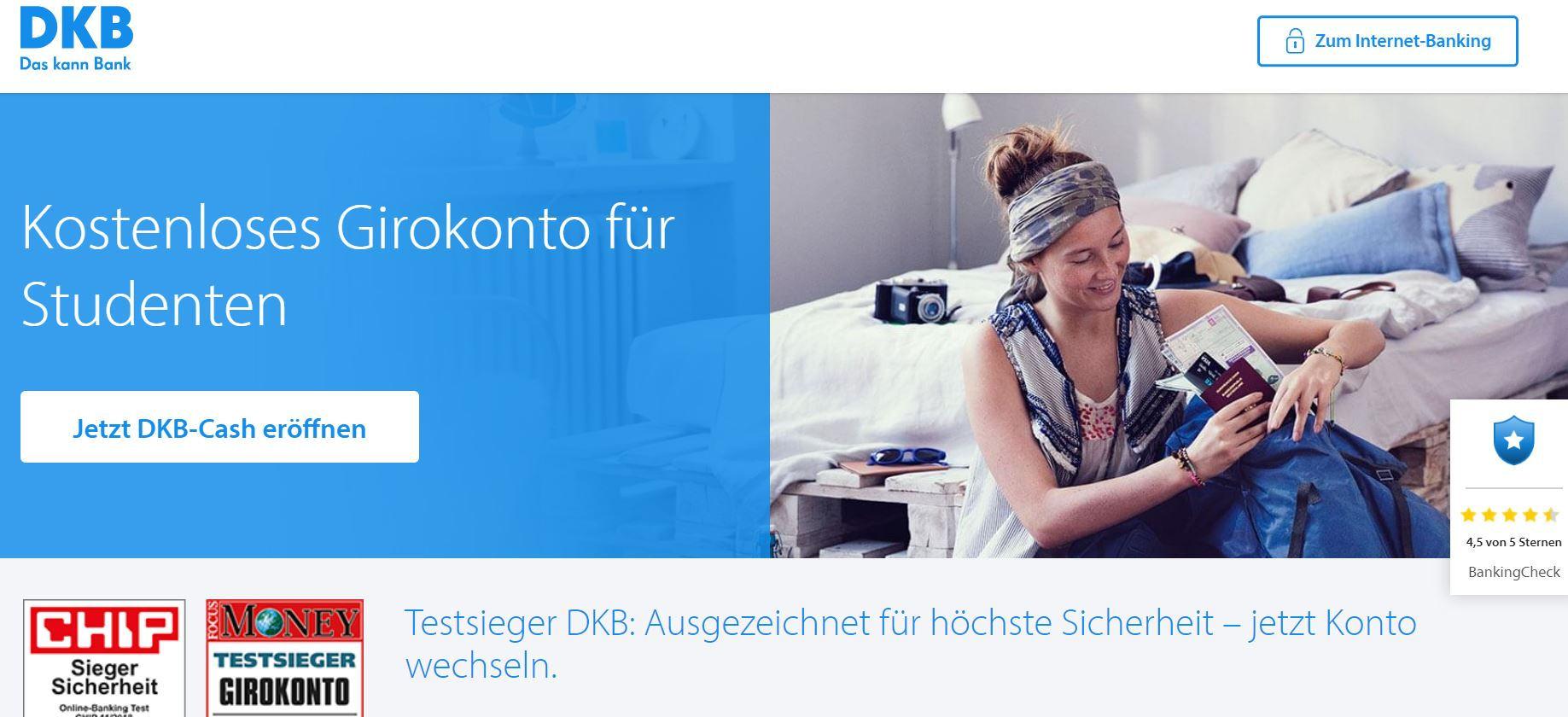 DKB Cash Girokonto für Studenten